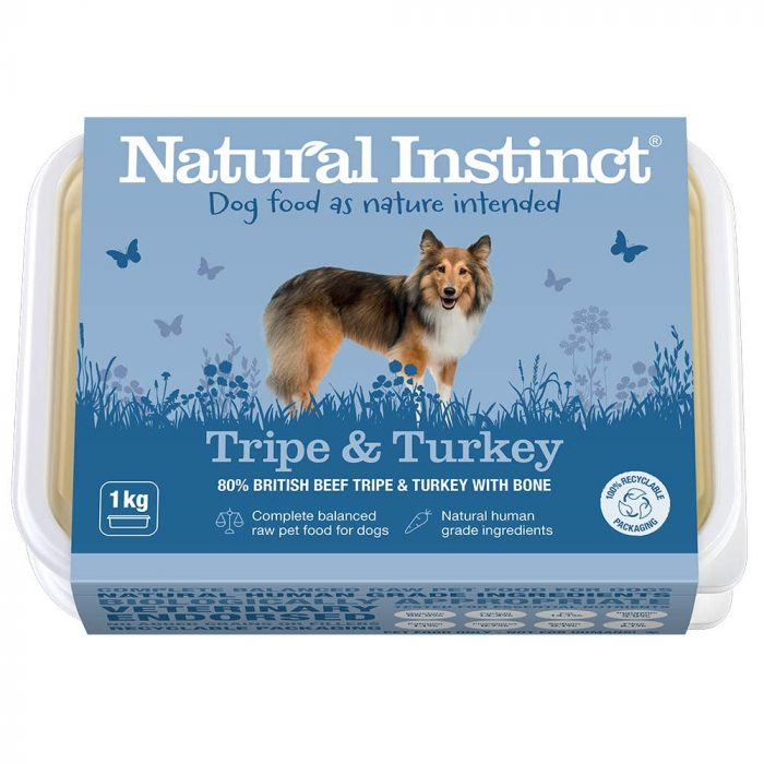 Natural Instinct Dog Food Tripe & Turkey 1KG