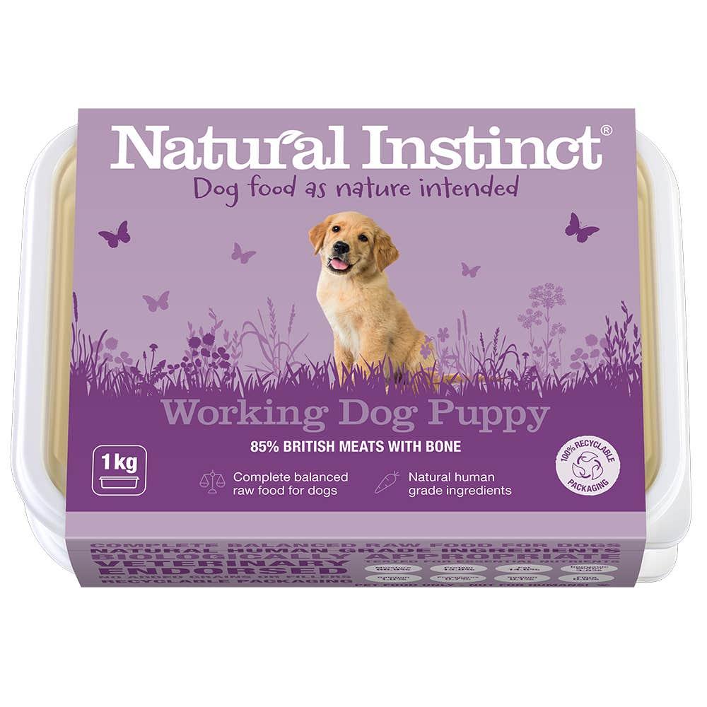 Natural Instinct Working Dog Puppy 1KG
