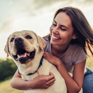 Lead On Dog Shop - Lady with Dog