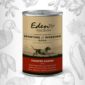 den Wet Food for Working and Sporting Dogs – Country Cuisine 400g Tin of Dog Food