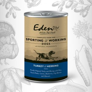 Eden Wet Food for Working & Sporting Dogs – Turkey & Herring 400g - Canned Eden dog food